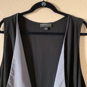Forever 21 - Open Vest in Black